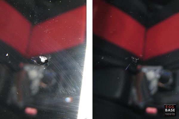 フロントガラスヒビ修理写真
